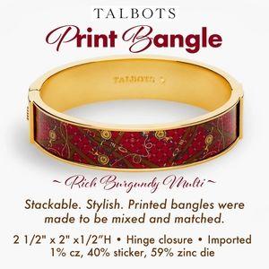 Talbots Print Bangle Rich Burgundy Multi